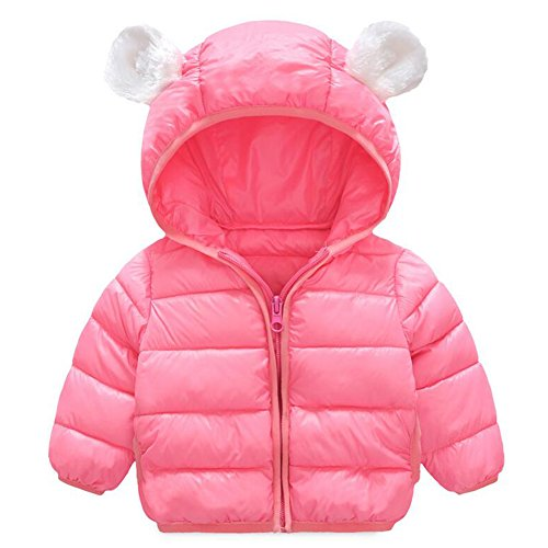 d4001965f Baby Boys Girls Winter Puffer Down Jacket Kids Ear Warm Coat Thicken Cotton  Hoodie Outwear Lightweight