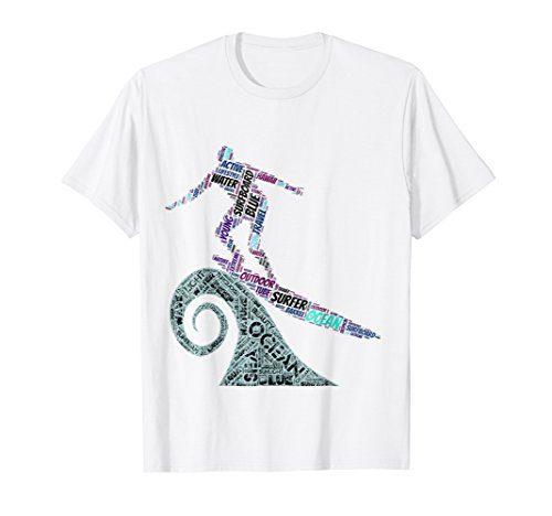 Surfing The Wave - Hang Ten T-Shirt: Men, Women, Kids