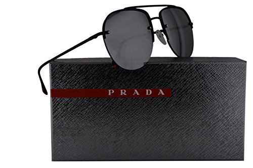 Prada Sunglasses Black w/Grey Mirror Lens 59mm
