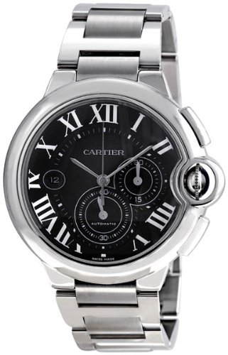 Cartier Ballon Bleu Extra Large 44mm Automatic Black Dial Chronograph Watch
