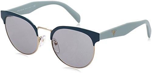 Prada Unisex Sunglasses, Black/Pale Gold/Grey Gradient, 54mm