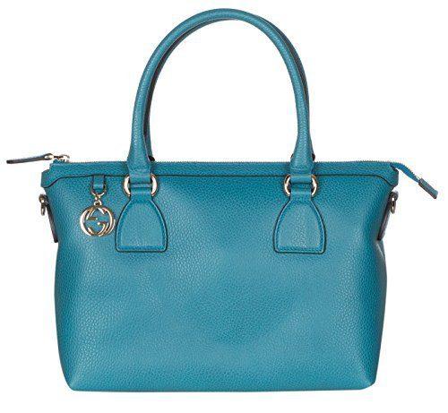 Gucci Teal Calf Leather GG Pendant Hobo Shoulder Bag