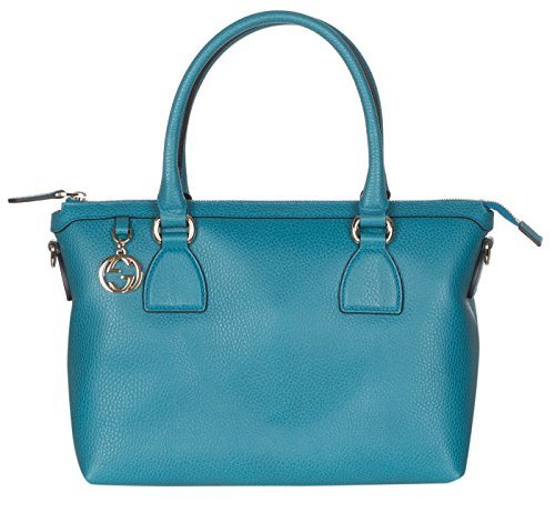 Gucci Teal Calf Leather GG Pendant Hobo Shoulder Bag