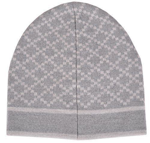 Gucci Men's Wool Diamante Silver Grey Beanie Hat
