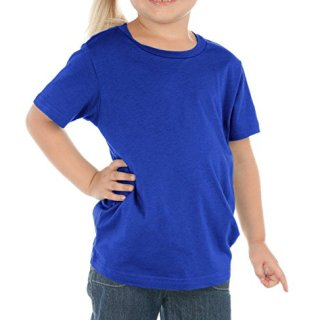 Kavio Toddlers Crew Neck Short Sleeve Cotton/Poly Tee Cobalt Blue 3T