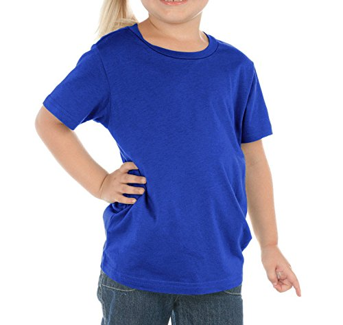 Kavio Toddlers Crew Neck Short Sleeve Cotton/Poly Tee Cobalt Blue 3T