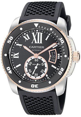 Cartier Men's Analog Display Swiss Automatic Black Watch