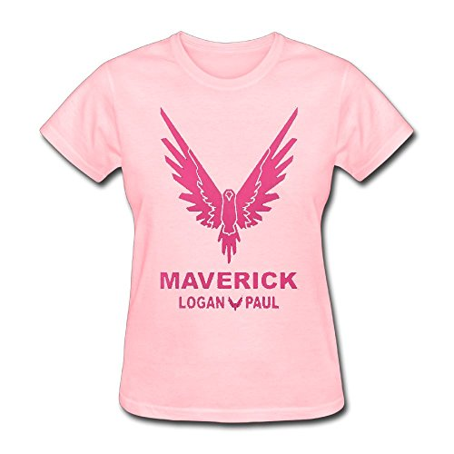Eric A. Collins Women's T-Shirt Short Sleeve Logan Paul Same Popular Logo Pink