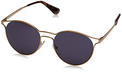 Prada Women's Sunglasses Antique Gold / Violet 53mm