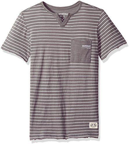 Buffalo by David Bitton Big Boys' Short Sleeve Henley Tee Shirt, Suve Ardent, Small (8)