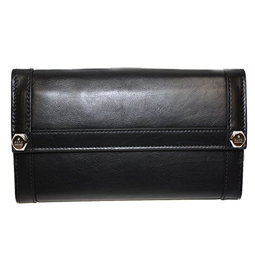 Gucci Leather Continental Flap Wallet, Black