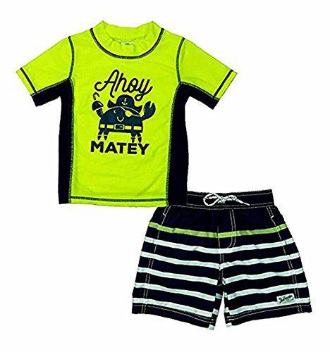 Carter's Boys' Short Sleeve Rash Guard Set (6)