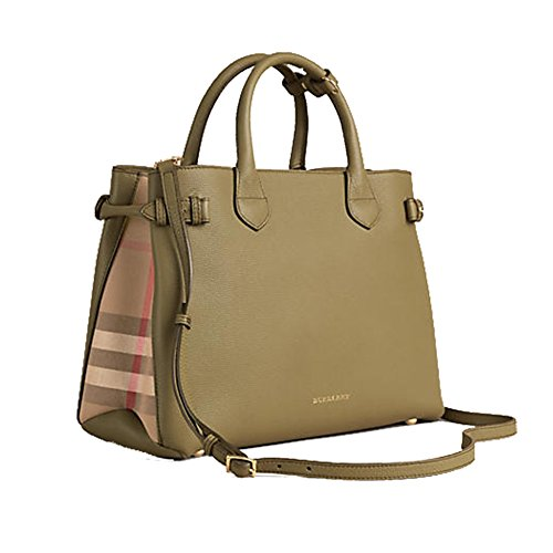 Tote Bag Handbag Burberry Medium Banner in Leather and House Check Pale Pistachion Green Item