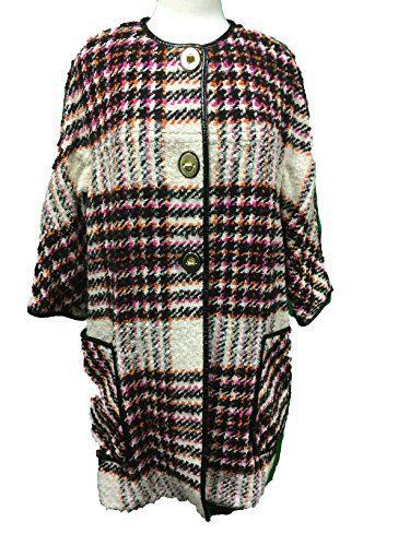 Coach Women's Plaid Boulce Bonnie Archive Jacket Coat Multicolor Plaid Small