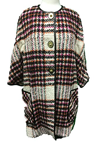 Coach Women's Plaid Boulce Bonnie Archive Jacket Coat Multicolor Plaid Small