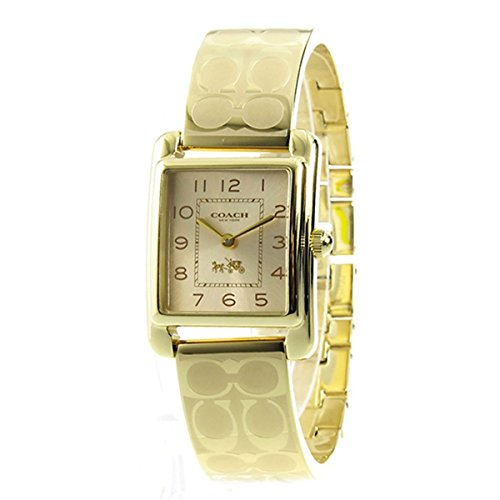 COACH Women's Page Bangle Watch Gold/Gold Plated One Size