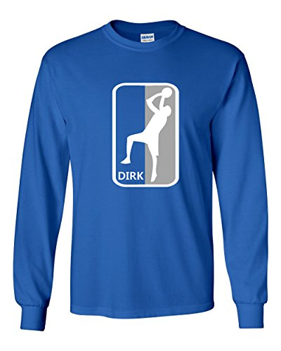 "The Silo LONG SLEEVE BLUE Dallas ""Dirk"" T-Shirt ADULT"