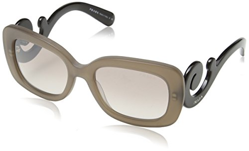 Prada Women's Minimal Baroque, Dark Brown Mat Trasp, 54mm