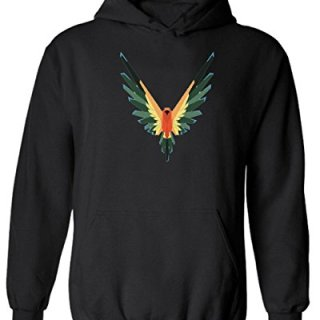 Maverick Bird Logo Logan Paul Logo Custom Hoodie New Year Hoodie (M, Black)