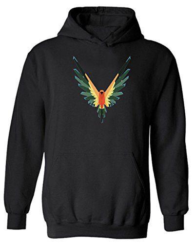 Maverick Bird Logo Logan Paul Logo Custom Hoodie New Year Hoodie (M, Black)