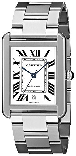 Cartier Men's Analog Display Automatic Self Wind Silver Watch