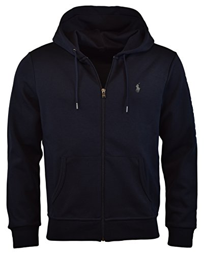 Polo Ralph Lauren Men's Double-Knit Full-Zip Hoodie, S, Aviator Navy