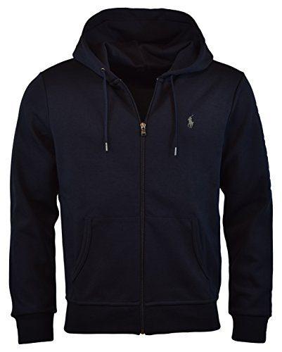 Polo Ralph Lauren Men's Double-Knit Full-Zip Hoodie, S, Aviator Navy