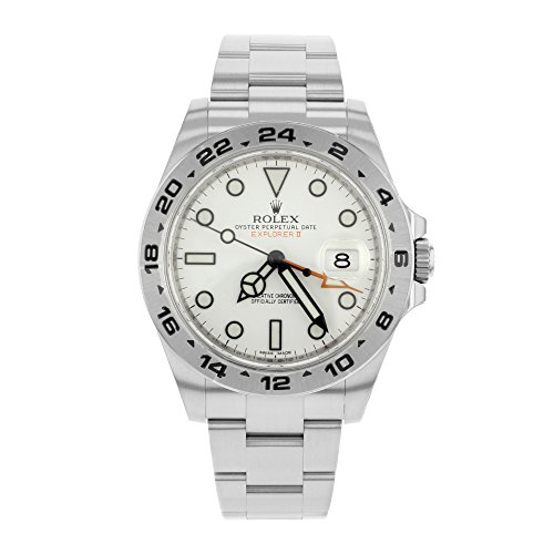 Rolex Explorer II White Dial Stainless Steel Rolex Oyster Automatic Mens Watch