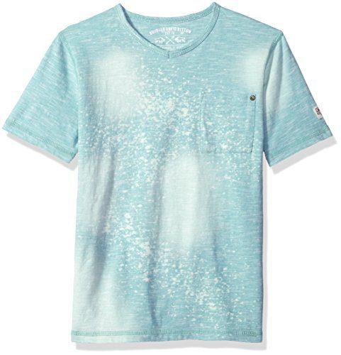 Buffalo by David Bitton Big Boys' Short Sleeve Tee Shirt, Sauto Botanical Blue, Small (8)