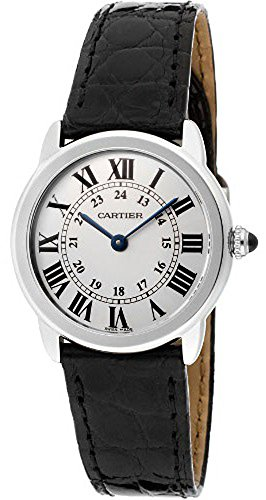 Cartier Women's Ronde Solo Black Leather Watch