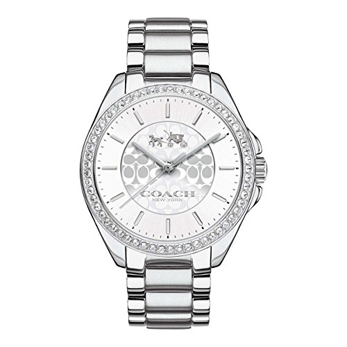 Coach Womens Tristen Signature Stainless Bracelet Glitz Watch