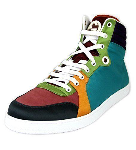 Gucci Men's Satin Multicolor High-top Sneakers (11 US/10.5 G)