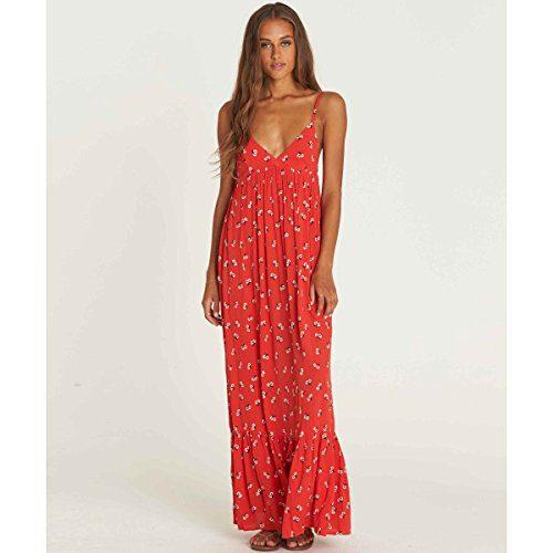 Billabong Women's Flamed Out Dress, Chili Pepper, M