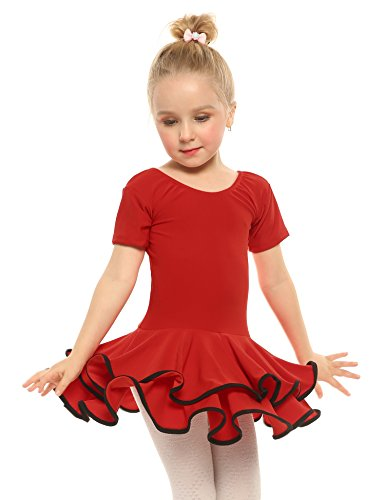 Arshiner Girls' Cotton Long Sleeve Twirly Skater Party Dress