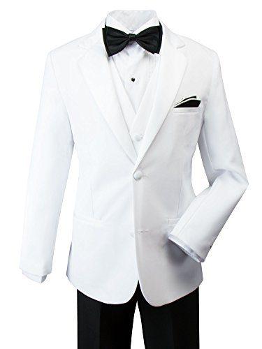 Spring Notion Baby Boys' Modern Fit Tuxedo Set, No Tail 4T White Jacket/Black Pants
