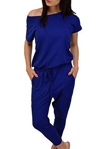 Junior Cotton Short Sleeve 1 pc Nine Pant Sets Blue Romper Jumpsuit for Running Wear