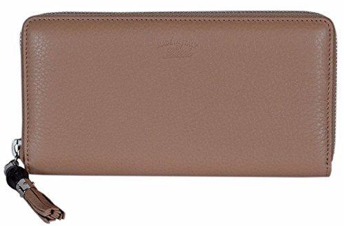 e57ad36a4154bb Gucci Women's Beige Leather Trademark Logo Zip Around Wallet Clout Wear