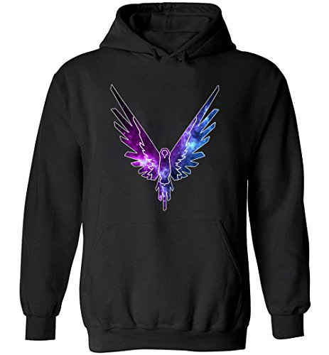 LoganPaulFun Mens Maverick Logo hoodie Logan Paul and Jake Paul Sweatshirt Parrot Logo Pullover Black