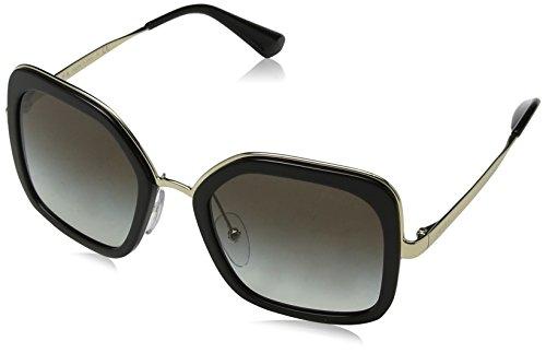 Prada Women's Oversized Square Sunglasses, Black/Grey, One Size