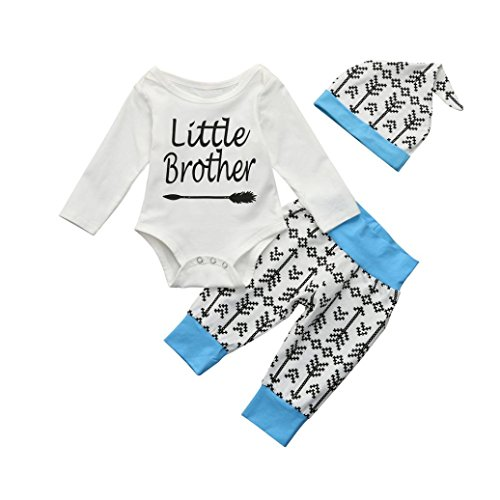 Memela Baby Boys Clothes, Brother & Me Matching Layette Set 0-6 Years Spring/Summer (Little Brother, 0-3 Months)