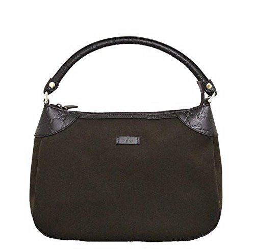 Gucci Brown Canvas Hobo Shoulder Bag Guccissima Leather Handbag ... 654cbbd97e0a8