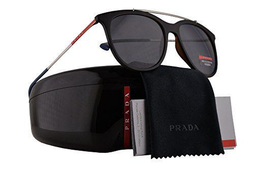 Prada Sunglasses Havana Rubber w/Polarized Grey Lens 54mm