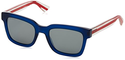 Gucci Sunglasses 004 Blue/Red/Crystal / Silver Lens 52 mm one size