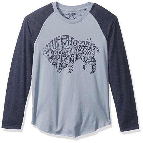 Buffalo by David Bitton Boys' Typo Dos Long Sleeve Raglan Shirt, Faded Mirage, 5