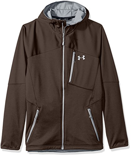 Under Armour Men's ColdGear Reactor Fleece Hoodie, Maverick Brown/Steel, XXX-Large
