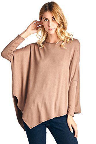12 Ami Point Hem Long Sleeve Terry Sweater Mocha S