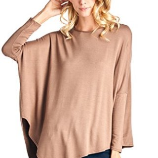 12 Ami Point Hem Long Sleeve Terry Sweater Mocha S