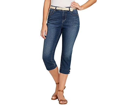 Bandolino Women's Mandie 5 Pocket Belted Capri, Yosemite, 16
