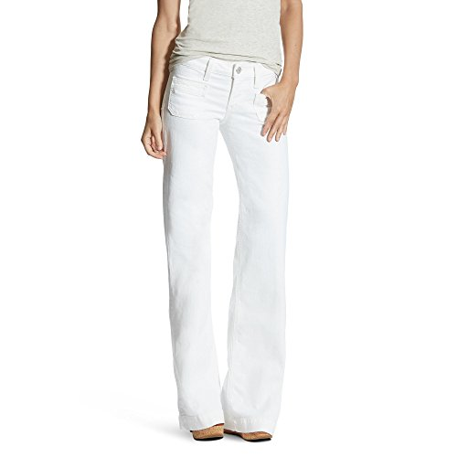 Ariat Womens Dawn Wide Leg Trouser Jean 28 L White