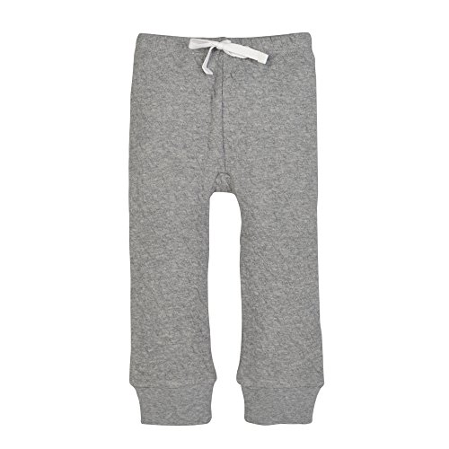 Burt's Bees Baby Baby Boys Organic Quilted Pant (Newborn-24), Heather Grey, 12 Months
